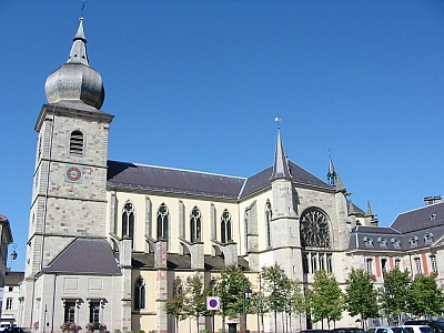 Church of Saint Peter of Remiremont, Vosges, France; photographed in 2005 by Christian Amet; swiped off the Wikipedia web site