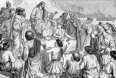 [Jesus teaching]