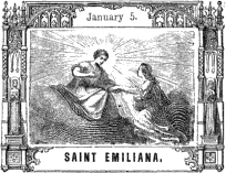 illustration of Saint Emiliana of Rome from 'Pictorial Half Hours with the Saints'
