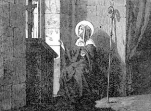 [Pictorial Lives of the Saints: Saint Gertrude, Abbess]