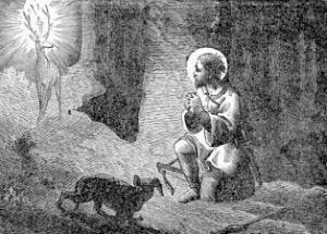 [Pictorial Lives of the Saints: Saint Hubert, Bishop]