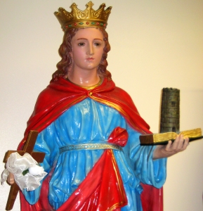 statue of Saint Agrippina of Mineo in the