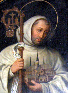 painting of Saint Bernard of Clairvaux, the church of Heiligenkreuz Abbey near Baden bei Wien, Lower Austria, by Georg Andreas Wasshuber