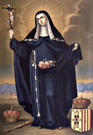 detail of the painting 'Santa Isabel Reina de Portugal', by José
