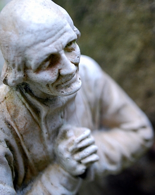 statue of Saint John Mary Vianney, sculptor unknown, Saint John Marie Vianney Retreat House, Norzagaray, Bulacan, Philippines; swiped off the flickr account of dcfdelacruz