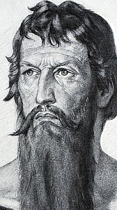 detail of an illustration of Saint Nicholas of Flue