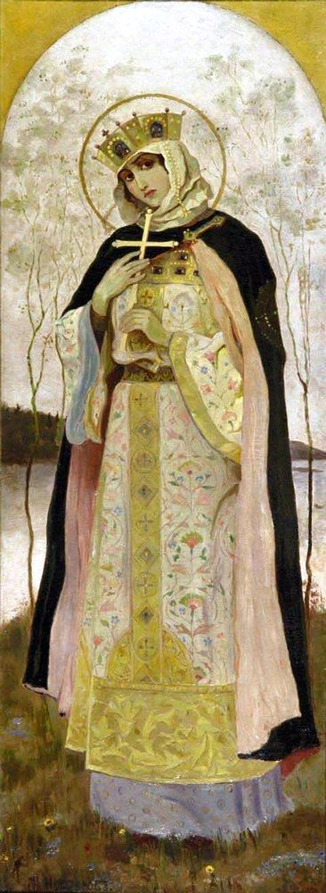 painting of Saint Olga, Mikhail Vasilyevich Nesterov, 1892; swiped off Wikipedia