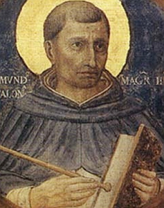 detail of a painting of Saint Raymond of Penyafort, date and artist unknown