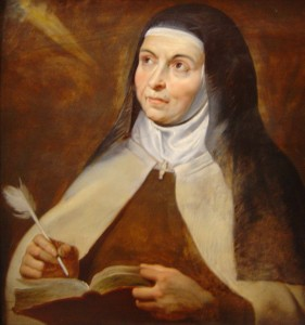 20kb jpg detail of a painting of Saint Teresa of Avila by Peter Paul Rubens, Kunsthistorisches Museum, Vienna, Austria