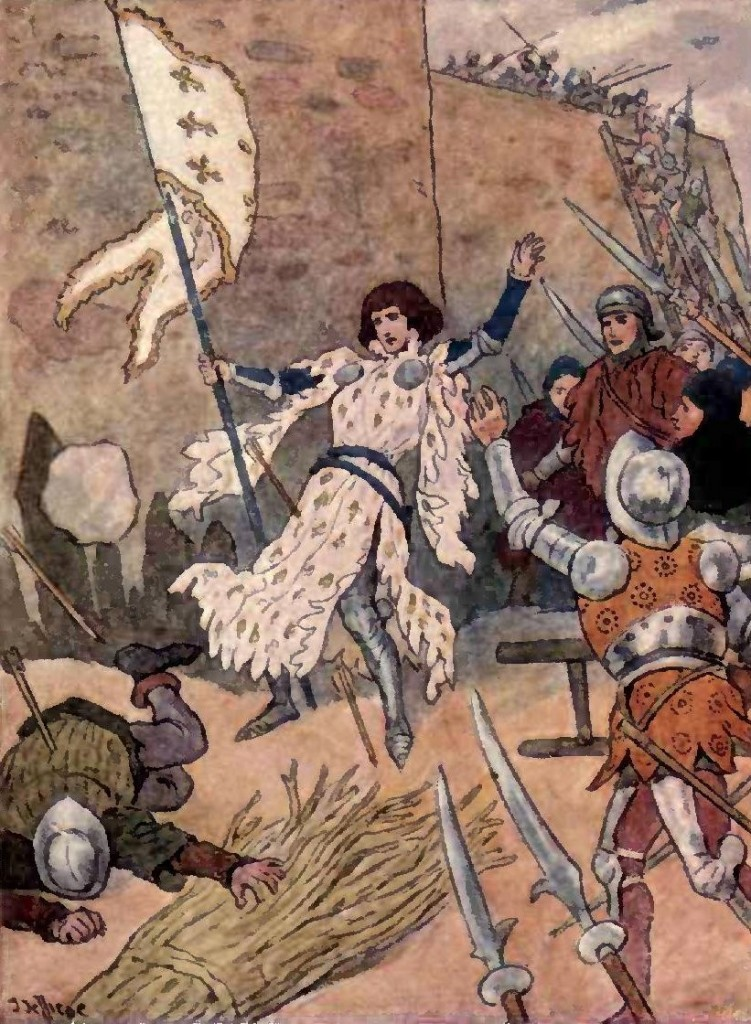 joan of arc thesis Thesis even though joan of arc, a french country girl, was eventually burned as a heretic and denied by king charles of france, she led the french army to victory over english in several battles during the hundred year war.