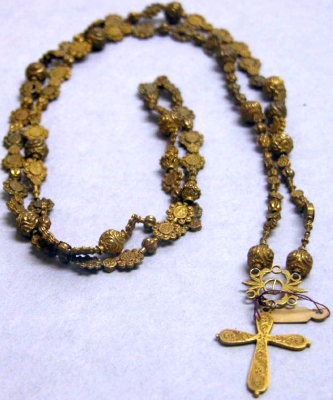 a set of rosary beads
