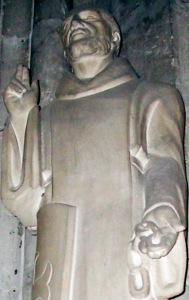 statue of Saint Adjutor at la collégiale de Vernon, France; taken on 19 March 2007 by theoliane; swiped from Wikimedia Commons