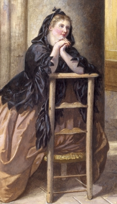 woman at morning prayers