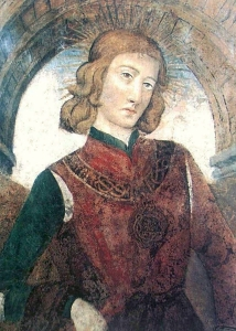 portrait of Amadeus IX, Duke of Savoy, fresco, after 1474, San Domenico church, Turin, Italy