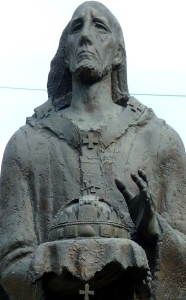 photograph of a statue of Saint Astricus by György Benedek; swiped off the Wikipedia web site