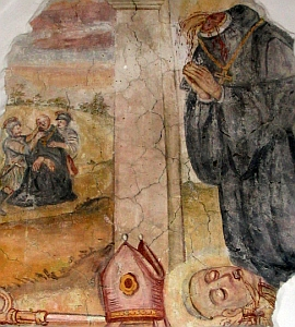 detail of a medieval fresco depict