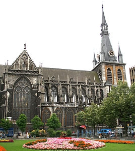 detail of a photograph of the cathedral of Saint Paul, Diocese of Liège, Belgium; photo taken 8 August 2006 by Jean-Pol GRANDMONT; swiped off the Wikipedia web site