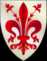 coat of arms for Florence, Italy
