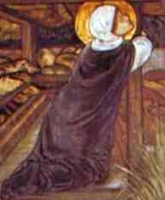 detail from the painting 'The Legend of Saint Frideswide' by Edward Burne-Jones, 1859