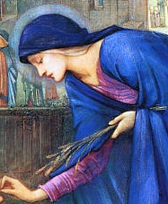 Saint Ida of Nivelles by Edeward Burne-Jones