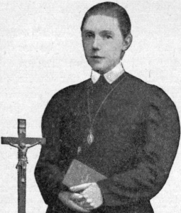 detail from an antique holy card of Blessed Maria Teresa Ledochowska