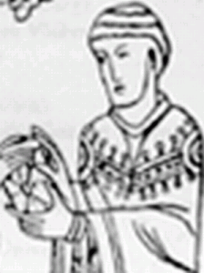 detail of an illustration of Saint