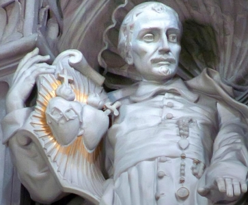 detail of a statue of Saint John Eudes; date and artist unknown; Saint Peter's Basilica, Vatican City, Rome, Italy; photographed by Mary Harrsch; swiped off her flickr site