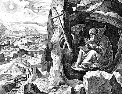 Saint John of Egypt by Jan Sadeler, image courtesy of the Digital Image Archive, Pitts Theology Library, Candler School of Theology, Emory University