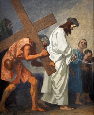 Fifth Station - Simon the Cyrenean Helps Jesus to Carry His Cross