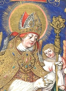16th century illustration of Saint Stanislaus of Cracow; swiped