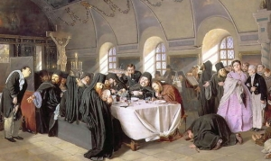 The Refectory, by Vasily Perov