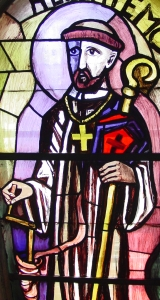 photograph of a stained glass window in Liesing Austria; swiped off the Wikipedia