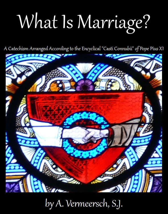 What Is Marriage? - A Catechism Arranged According to the Encyclical 'Casti Connubii' of Pope Pius XI; click image to download as an ebook