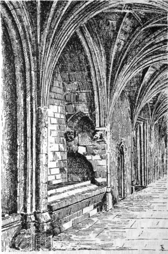 Worcester: lavatory in the west walk of the cloister