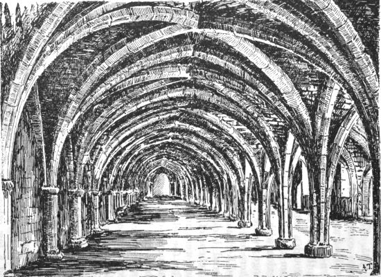 Fountains abbey: cellarium, looking north