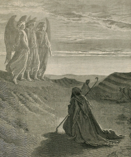 Abraham meeting the angels