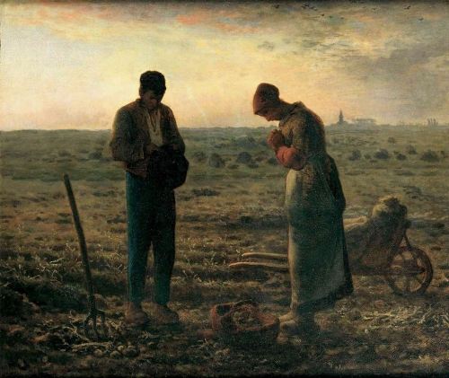 'The Angelus' by Jean-François Millet, c.1858; ground floor, room Galerie Chauchard, Musée d'Orsay, Paris, France; swiped from Wikimedia Commons