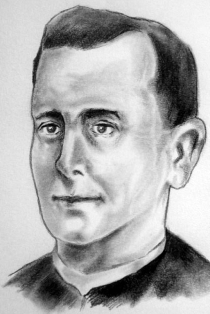 illustration of Blessed Amado García Sánchez, date and artist unknown; swiped from Santi e Beati