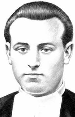 illustration of Blessed Andrés Zarraquino Herrero, date and artist unknown; swiped from Santi e Beati