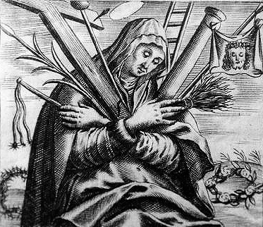 17th century print of Blessed Angela of Foligno; artist unknown; swiped from Wikimedia Co