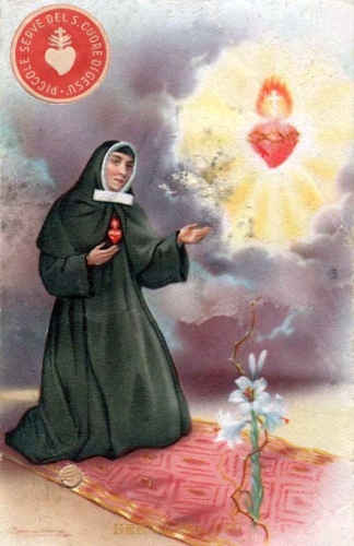 antique Italian holy card of Blessed Anna Michelotti, date and artist unknown; swiped from Santi e Beati