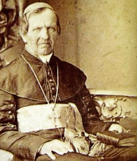 photograph of Blessed Anton Martin Slomsek, taken in Vienna, Austria in 1862 just before his death; photographer unknown; swiped off Wikimedia Commons