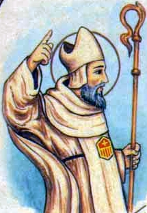 detail of an Italiano holy card of Blessed Antonio Blasi by Bertoni, date unknown; swiped from Santi e Beati