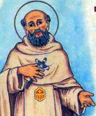 detail of an antique Italian holy card of Blessed Antonio Marini by Bertoni, date unknown; swiped from Santi e Beati