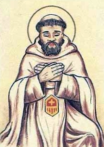 detail of an Italian holy card of Blessed Antonio de Blanes by Bertoni, date unknown; swiped from Santi e Beati
