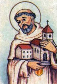 detail of an Italian holy card of Blessed Antonio of Olmedo by Bertoni, date unknown; swiped from Santi e Beati