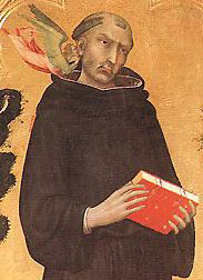 detail from the 'Blessed Agostino Novello Altarpiece' by Simone Martini, 1324, tempera on wood, 198 x 257 cm, Pinacoteca Nazionale, Siena