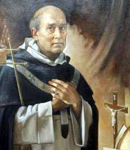 detail of a portrait of Blessed Bartolomeu dei Martiri Fernandes, by Giuseppe Antonio Lomusc