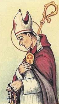 detail of an Italian holy card of Blessed Corrado of Laodicea by Bertoni, date unknown; swiped from Santi e Beati