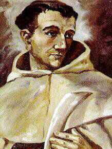 detail from a portrait of Blessed Denis of the Nativity by Spanish Carmelite Rafael Lopez-Melus